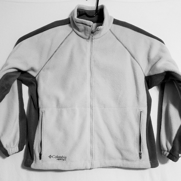 Columbia Vertex Men's XL Fleece Jacket White Zip
